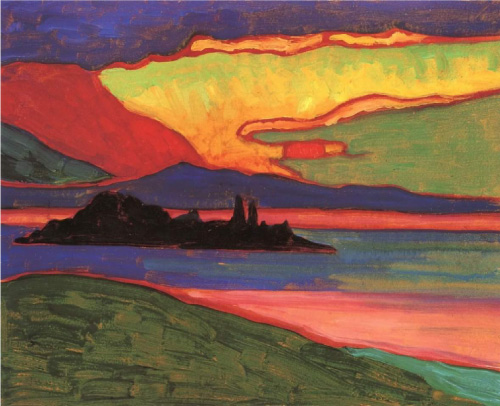 Sunset over Staffelsee - 1910