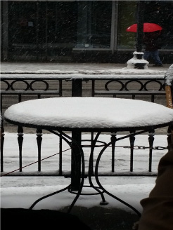 Four inches of snow in Boston