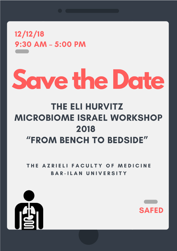 The Eli Hurvitz Microbiome Israel Workshop | from bench to beside | 12.12.18
