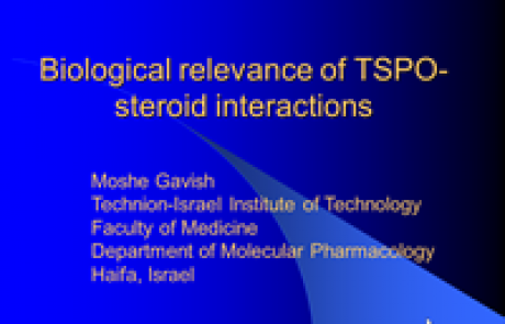 Biological relevance of TSPO- steroid interactions