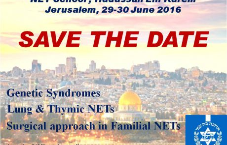 The 3rd Course in Neuroendocrine Tumors (NETs) Update in Genetic Syndromes And Beyond 29-30.6.2016